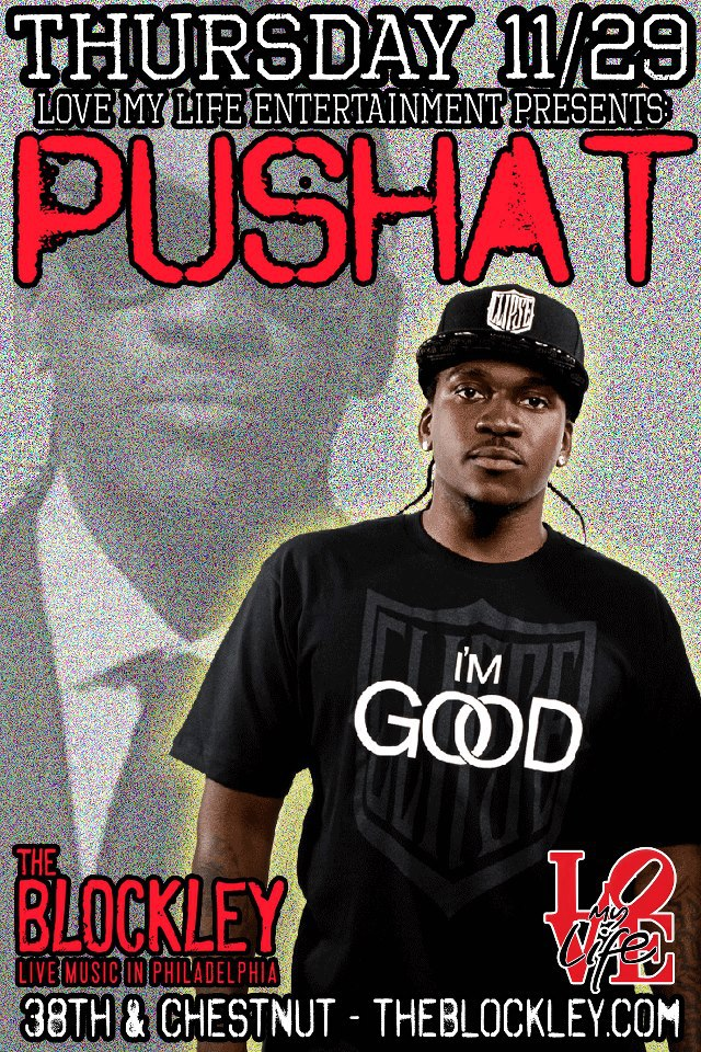 WIN 2 Tickets To See Pusha T This Thursday In Philly At The Blockley via HHS1987