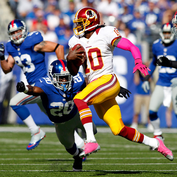 RG3 MNF: New York Giants Vs. Washington Redskins Predictions