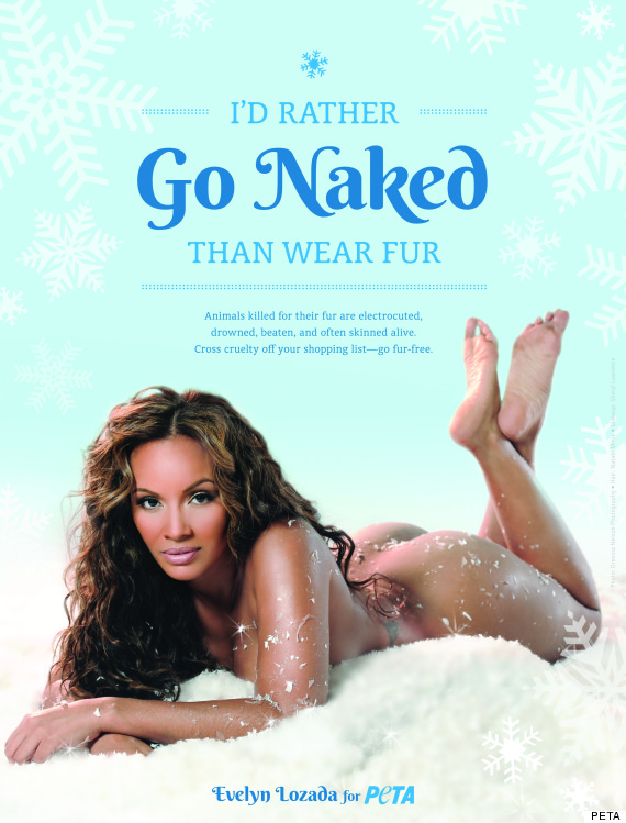 Evelyn Lozada Goes Nude for PETA (Video)