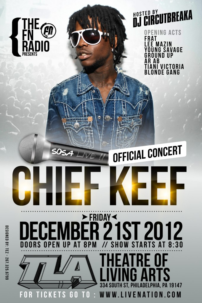WIN 2 Tickets To See @ChiefKeef In Philly At The TLA on December 21st via HHS1987