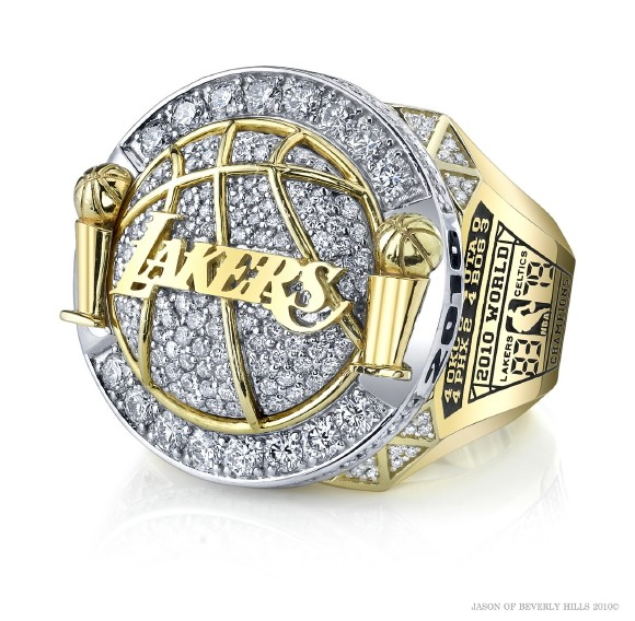 lakerring2 Close Look At The Lakers Gold & Diamond Encrusted 16th Championship Rings