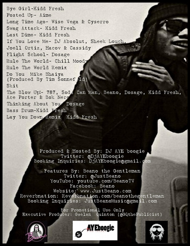Various_Artists_ft_Beano_RB_Drizzy-back-large Beano (@JustBeano) - R&B Drizzy (Mixtape)