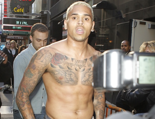 ChrisBrown095349-520x4001 Chris Brown Pissed off on Good Morning America (Video)
