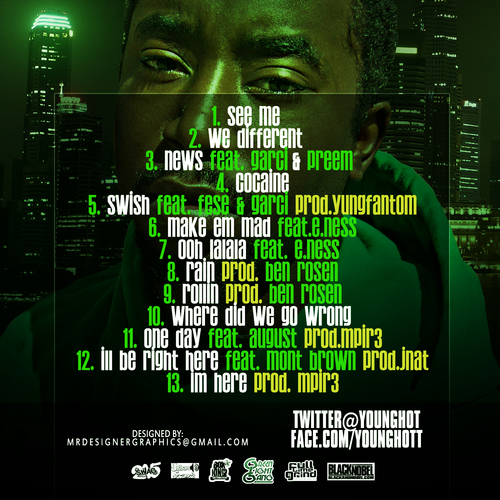 Young_Hot_Paint_The_City_Green-back-large Young Hot - Paint The City Green (Mixtape)