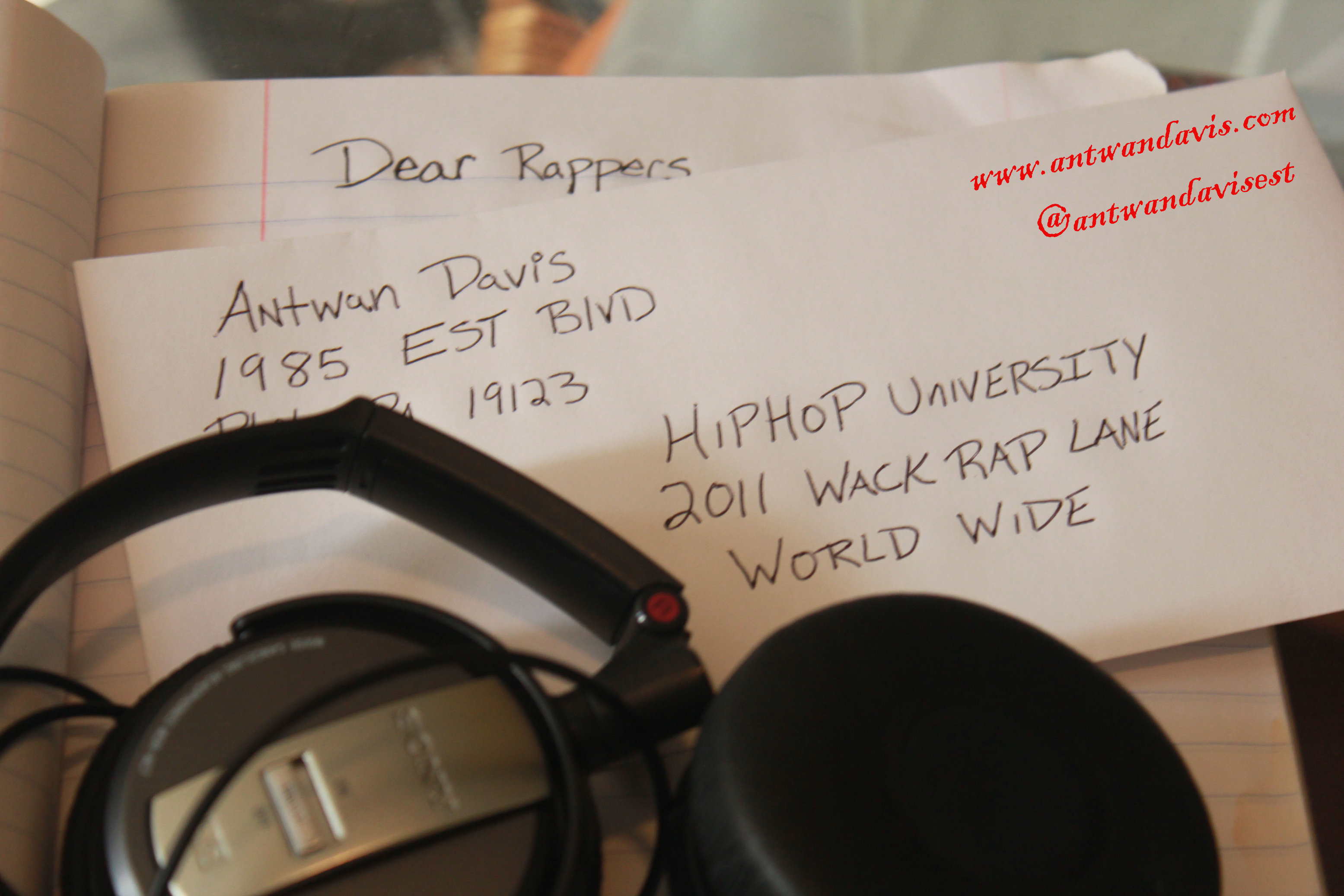 Antwan Davis (@AntwanDavisEST) &#8211; Dear Rappers