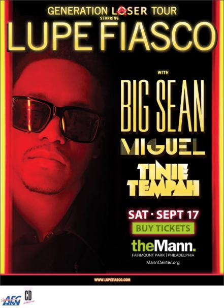 Lupe Fiasco, Big Sean, Miguel & More Are Performing At The Mann Music Center (Philly) 9/17/11