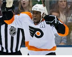 #NHL Fans Monkey around: Toss Banana at Flyers Simmonds via (@eldorado2452)