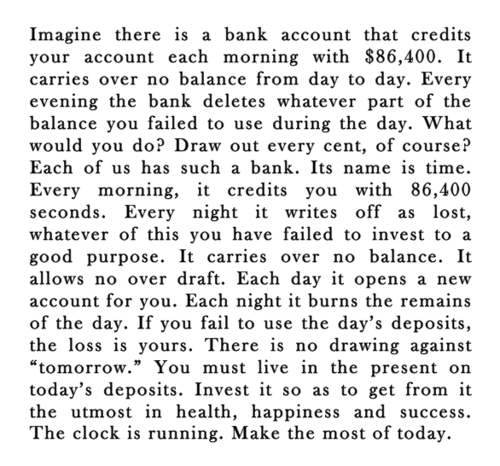 day Time Is Money (So Don't Waste It)