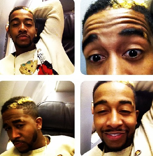 Omarion Copying Wiz Khalifa Blonde Streak Hairstyle Home Of Hip