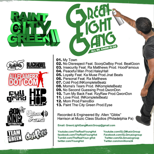 Young_Hot_Paint_The_City_Green_2-back-large Young Hot (@YoungHot) - Paint The City Green 2 (Mixtape)