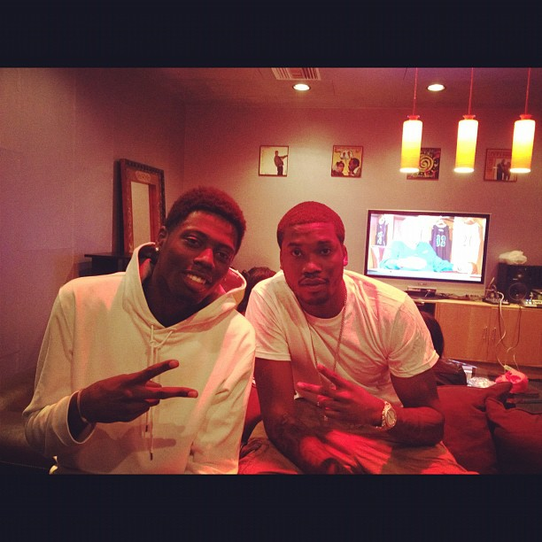 a67d9230523911e1b9f1123138140926_7 Meek Mill (@MeekMill) In The Studio With Travis Porter (@IAMTRAVISPORTER)