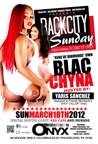 image1 @Yaris_Sanchez & @BlacChyna_mia Will Be at @ClubOnyxPhilly on March 18th #YDLM