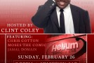 Chill Its Just Jokes Comedy Show hosted by @ClintColey 8pm Feb 26th at the Helium Comedy Club