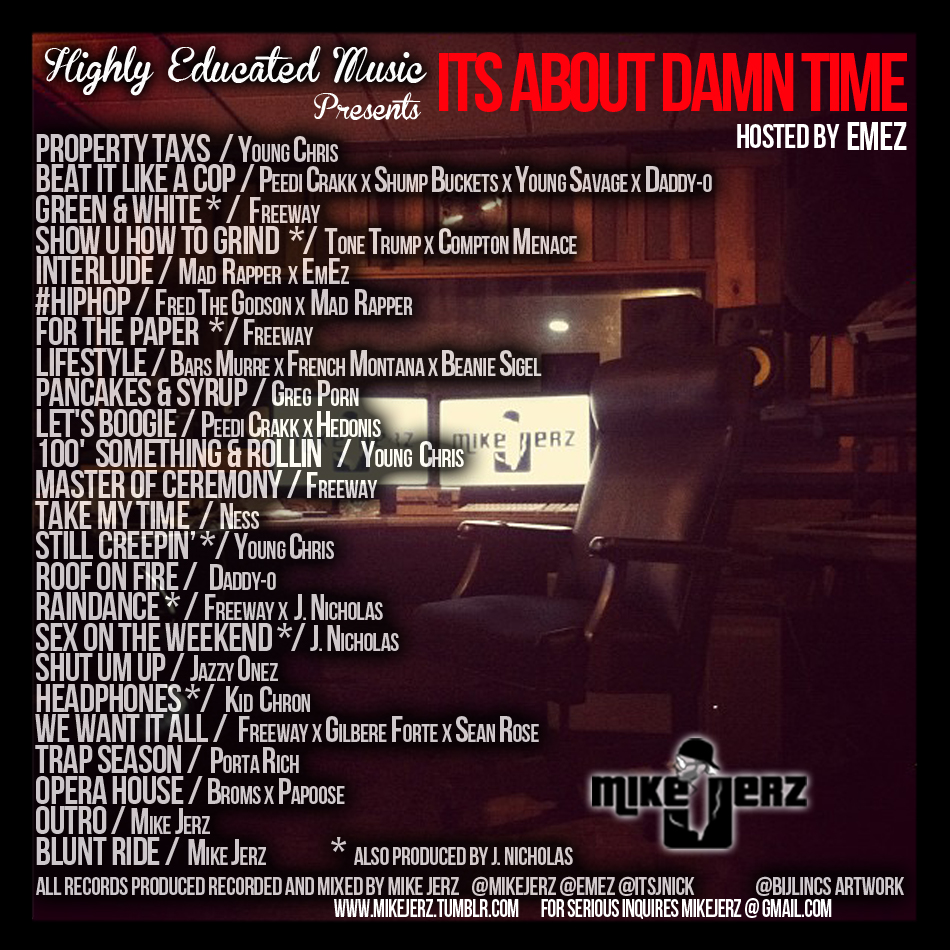 back2 Mike Jerz (@MikeJerz) - Its About Damn Time (Mixtape) (Hosted by @EMEZ)