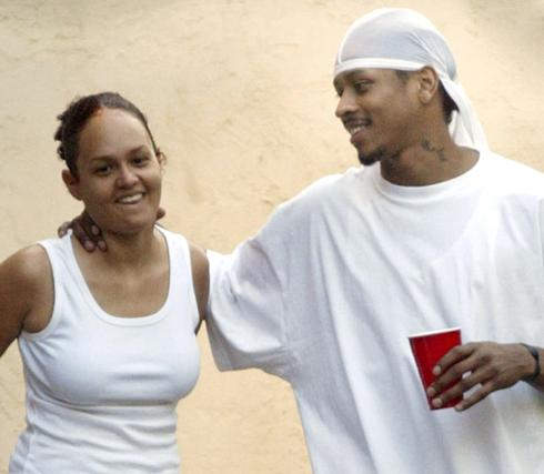 iversonandwifex-large Allen Iverson Wants a Judge to Void His Divorce Because He & His Wife Are Still Having Sex
