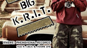 Big K.R.I.T Meet & Greet 4/28/12 at Phenomenal Records From 2pm-330pm