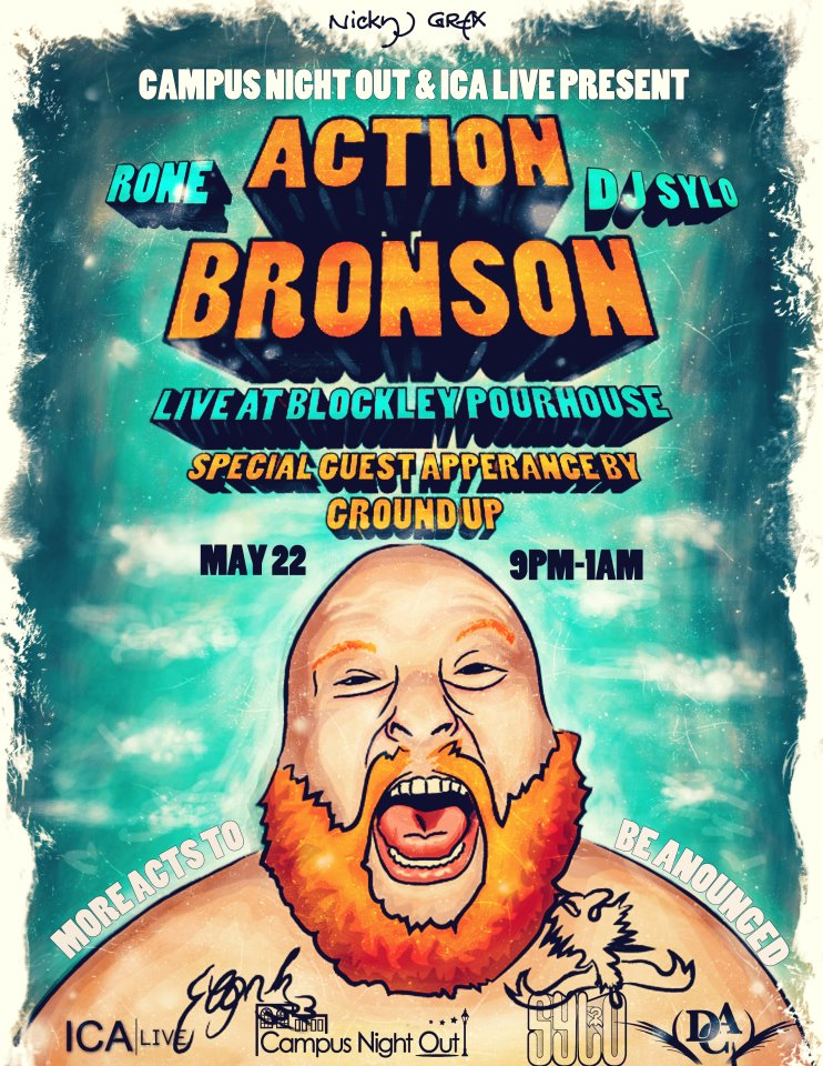 Enter To Win 2 Tickets To See Action Bronson (@ActionBronson) &amp; Ground Up (@TheRealGroundUp) Perform May 22nd
