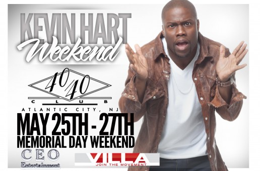 Kevin Hart Weekend May 25th-27th in Atlantic City (Event Details Inside)
