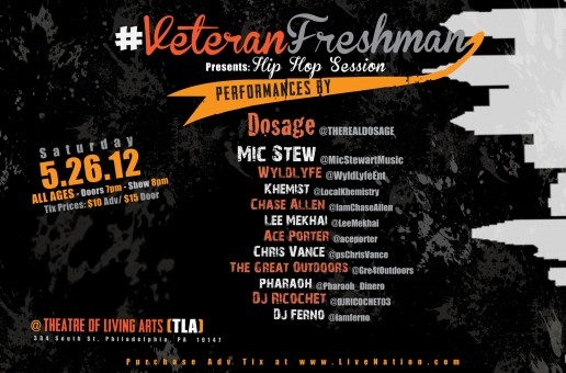 "Veteran Freshman – ""Hip Hop Session"" Saturday. May/26. at @TLAPhilly #VF3 via @yusufyuie"