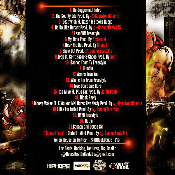 deuce-dblockdeuce_215-da-juggernaut-mixtape-hosted-by-cannonbeats215-TRACKLIST-BACK-HHS1987-2012 Deuce (@DBlockDeuce_215) - Da Juggernaut (Mixtape) (Hosted By @CannonBeats215)