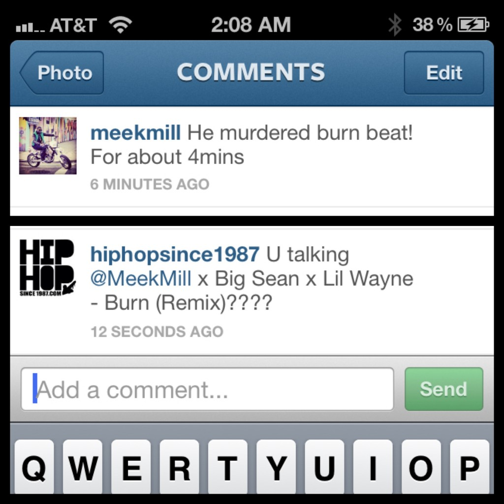 Meek Mill x Lil Wayne - Burn (Remix) in the works???