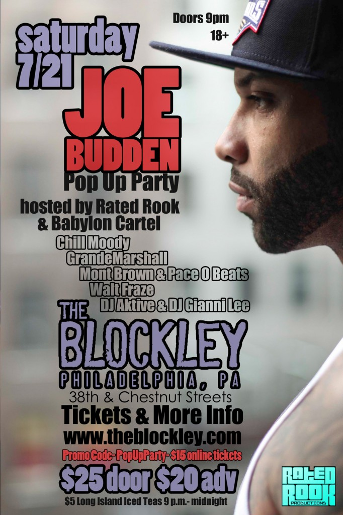 Win 2 Tickets To See Joe Budden July 21st This Saturday In Philly (Details Inside)