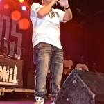 "DJ Drama wearing the Air Jordan 6 ""Golden Moment Pack"""