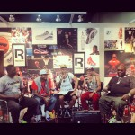 Reebok booth with Dominique Wilkins, Allen Iverson, Swizz Beats, Tyha, Rick Ross