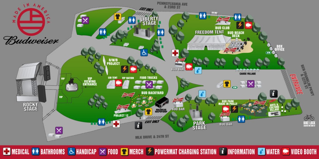 Budweiser Made In America Festival Schedule and Park Map Released
