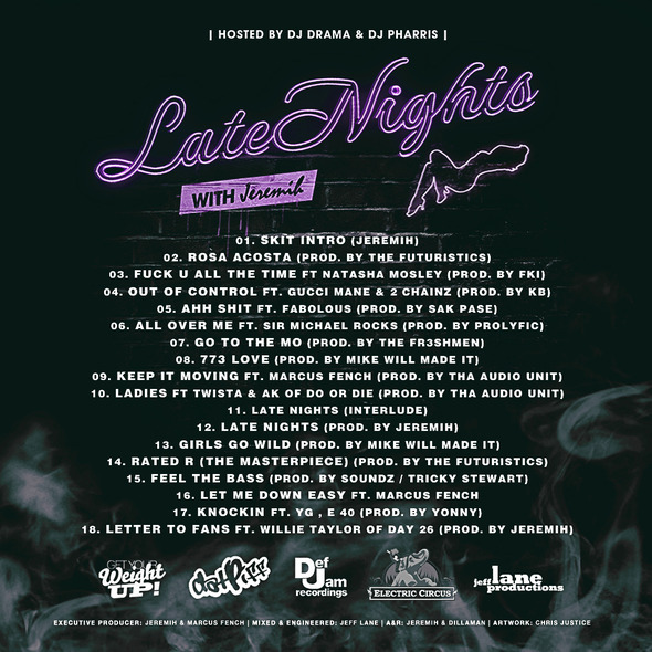Jeremih – Late Nights (Mixtape) (Hosted by DJ Drama & DJ Pharris)