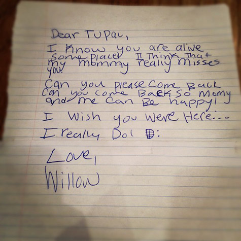 Willow Smith's Open Letter to Tupac