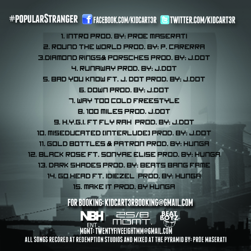 Mel Carter Popular Stranger back large Mel Carter (@KidCart3r)   Popular Stranger (Mixtape Review) via @ElevatorMann