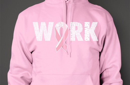 SI4S (@SleepIs4Suckers) Work/Reward (Breast Cancer Awareness Hoodies) (Women)
