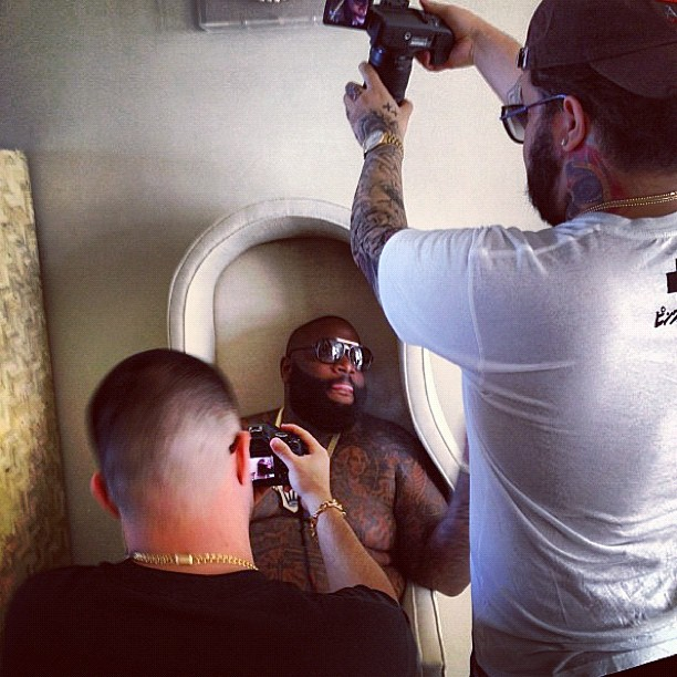 behind-the-scenes-of-rick-ross-diced-pineapples-video-shoot-HHS1987-2012-2 Behind The Scenes of Rick Ross (@RickyRozay) - Diced Pineapples (Video Shoot)