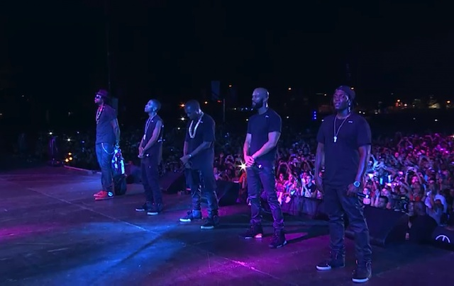 G.O.O.D. Music crew at Jay-Z's Made in America Festival