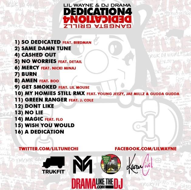Lil Wayne - Dedication 4 (Mixtape) (Hosted by DJ Drama)