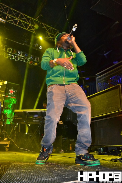 Wale wearing the Air Jordan 2 Doernbecher DB Charity that were released back in 2007.