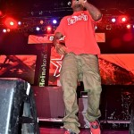 "Nas wearing the Jordan Spizike ""Gym Red"""