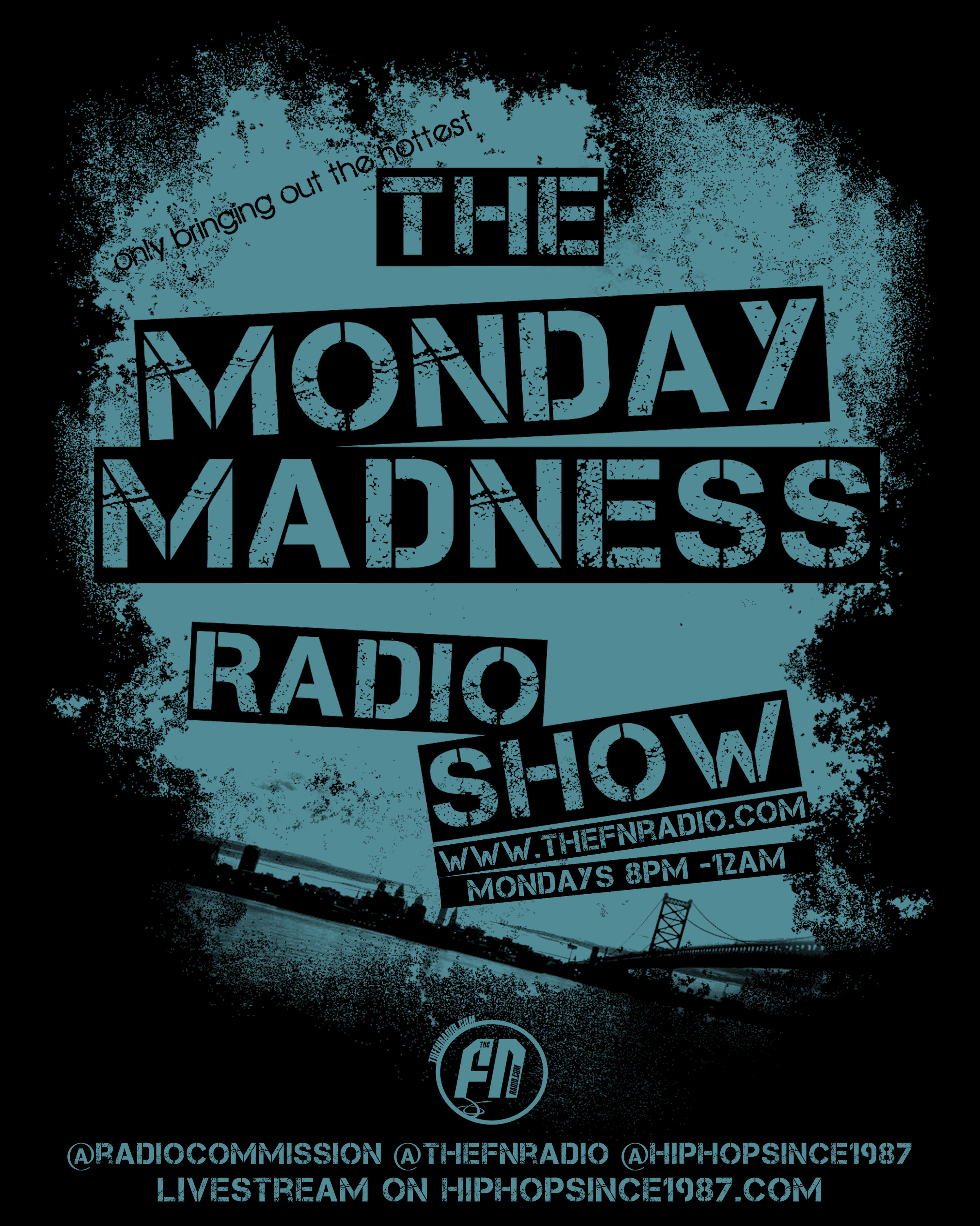 MondayMadnessk2 Tonight The Monday Madness Show (@Monmadnessradio) Ft @Imjuskp & @Ryanstar #PERSONALS 8pm Livestream on Hiphopsince1987.Com