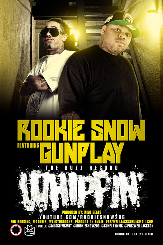 artworks-000032249353-opattk-original Rookie Snow (@ROOKIESNOW206) - Whippin' Ft. Gunplay (@GUNPLAYMMG) (Prod by @KinoBeats)