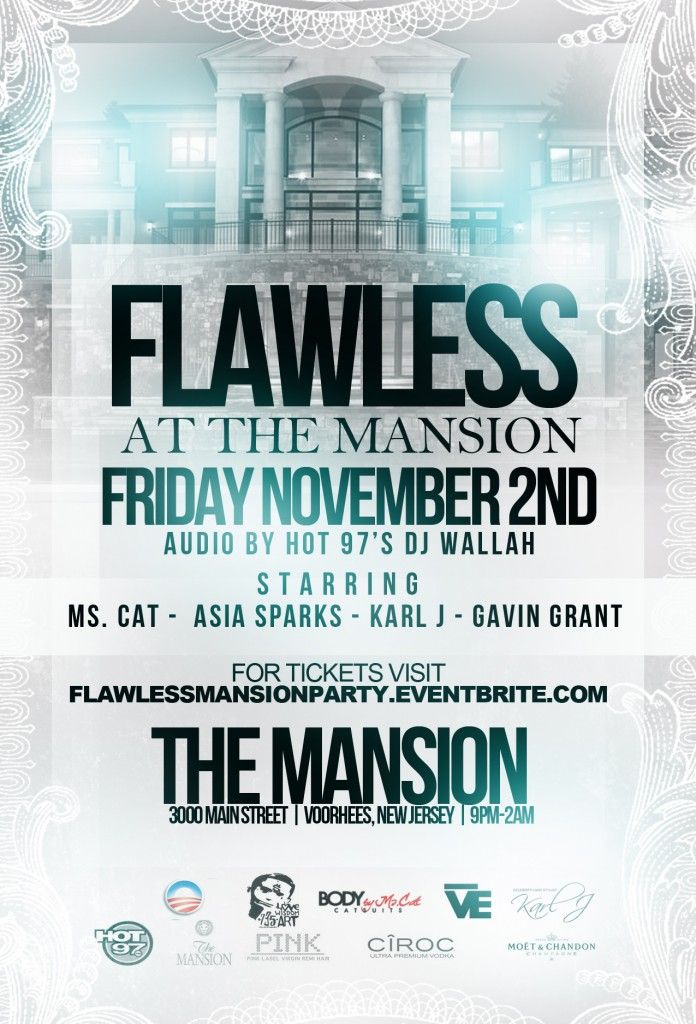 Flawless at the Mansion (Event) (11/2/12) Starring Ms. Cat, Asia Sparks, Karl J & Gavin Grant
