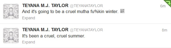 Teyana Taylor said It's Going To Be A Cruel Mutha Fuckin Winter