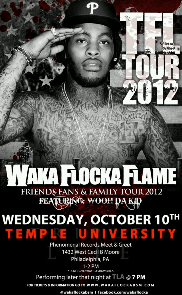Waka Flocka Meet and Greet October 10th At Phenomenal Records (Phila, Pa)