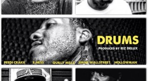 Jimme Wallstreet &#8211; Drums Ft Peedi Crakk, E. Ness, Quilly Millz &amp; HollowMan (Prod by Riz Delux)