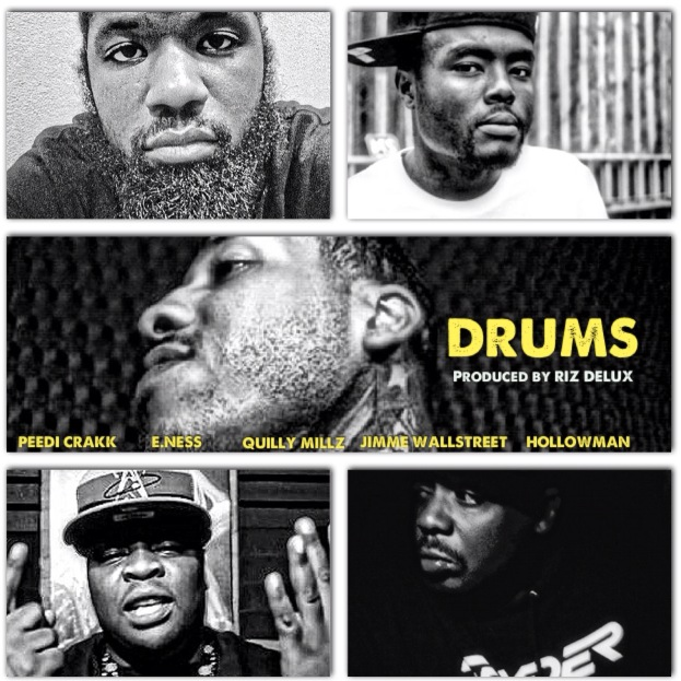 Jimme Wallstreet - Drums Ft Peedi Crakk, E. Ness, Quilly Millz & HollowMan (Prod by Riz Delux)
