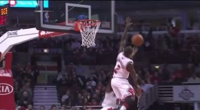 Chicago Bulls Guard Nate Robinson Swats Brooklyn Nets Marshon Brooks Lay Up (Video)