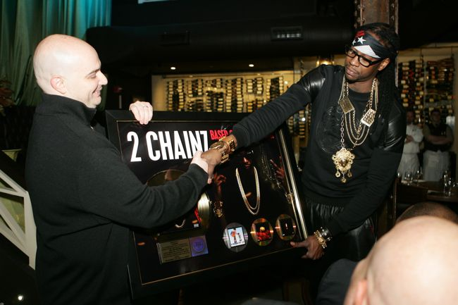 2 Chainz Receives Platinum &amp; Gold Plaques From Def Jam President, Joie Manda