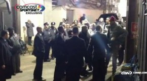 Knicks Carmelo Anthony Waits For Celtics KG By Team Bus After Heated Tension On The Court (Video)