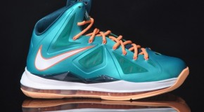 Nike Lebron X (Sunset) (Miami Dolphins Tribune) Preview