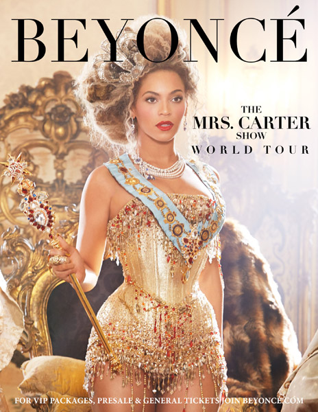 beyonce announces the mrs carter show tour HHS1987 2013 Beyonce Announces The Mrs. Carter Show World Tour